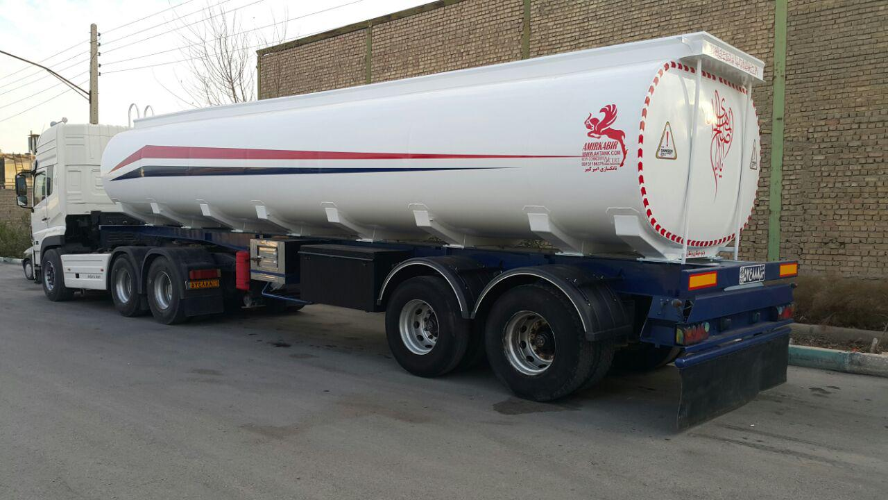تانکر دومحور حمل مواد سوختی